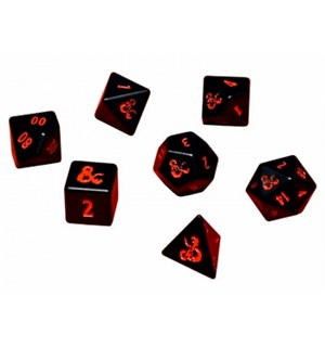 D&D Dice Set Heavy Metal - 7 terninger Offisielt terningsett Dungeons & Dragons