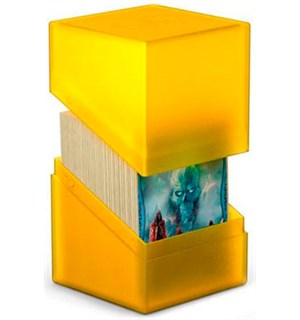 DeckBox Boulder 120 kort Amber Samleboks Ultimate Guard 10 x 8 x 7,5 cm
