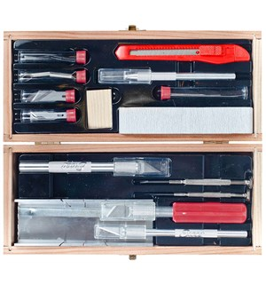Deluxe Knife & Tool Set Eksklusivt verktøysett for hobby