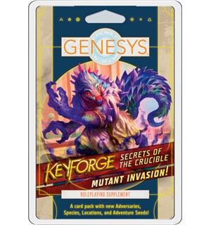 Genesys RPG Keyforge Mutant Invasion Adversary Deck - Secrets of the Crucible