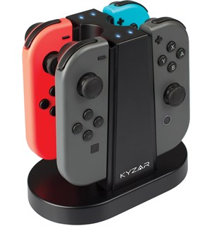 Ladestasjon for Nintendo Switch Joy-Cons Lad opptil 4 kontroller på en gang