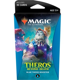 Magic Theros Beyond Death Theme Blue Theme Booster - 35 blå kort