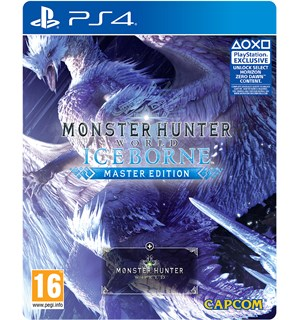 Monster Hunter World Iceborne PS4 Master Edition med Steelbook og DLC