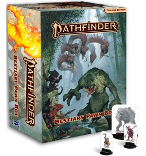Pathfinder 2nd Ed Bestiary Pawn Box Second Edition RPG - 375+ Standees