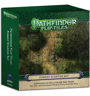 Pathfinder Flip Tiles Forest Starter Set 42 stk 15x15 kart