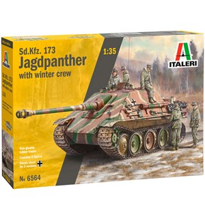 Sd.Kfz. 173 Jagdpanther w/ Winter Crew Italeri 1:35 Byggesett