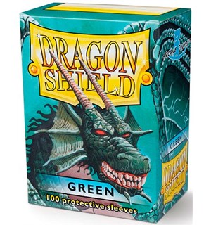 Sleeves Classic Green x100 - 63x88 m/box Dragon Shield Kortbeskyttere med deckbox
