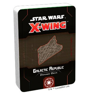 Star Wars X-Wing Galactic Republic Deck Damage Deck til X-Wing Second Edition