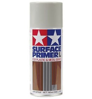 Tamiya Fine Surface Primer L Gray 180ml Spray Can Plastic/Metal