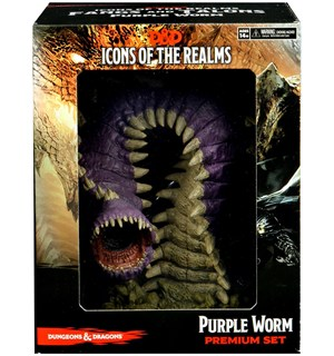 D&D Figur Icons Purple Worm Premium Set Dungeons & Dragons Fangs & Talons