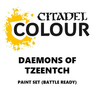 Daemons of Tzeentch Paint Set Battle Ready Paint Set for din hær