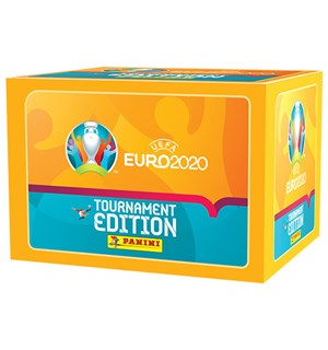 EURO 2021 Sticker Display 100 boosterpakker - 500 stickers
