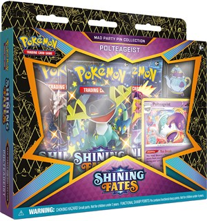 Pokemon Shining Fates Pin Coll Polteage Sword & Shield 4.5 - Polteageist