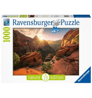 Soloppgang 1000 biter Puslespill Ravensburger Puzzle