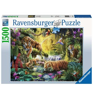 Tranquil Tigers 1500 biter Puslespill Ravensburger Puzzle