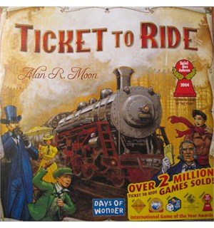 Ticket to Ride Brettspill Det originale Ticket to Ride spillet