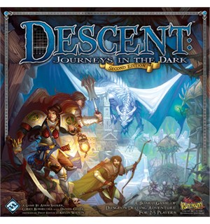 Descent Journeys in the Dark Brettspill Grunnspillet - Second Edition